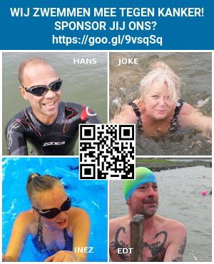 button 11stedentocht zwemmen tegen kanker